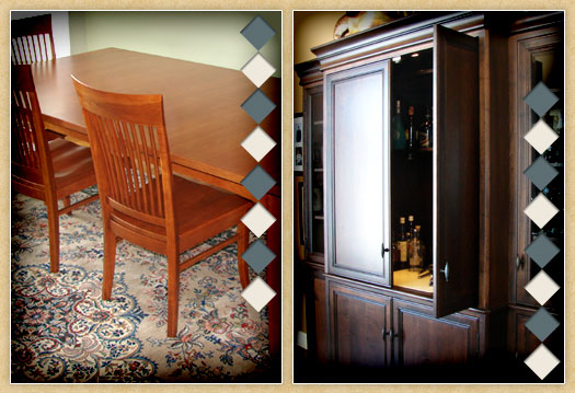 Collage of Custom furniture