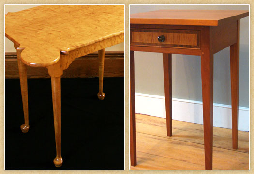 Samples of Early American Occasional Tables