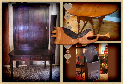 Collage of Early American furniture