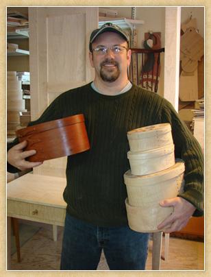 John Bachman in his shop.