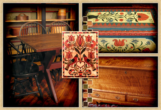 Collage Of Pennsylvania Dutch Furniture