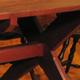 Walnut Sawbuck Table