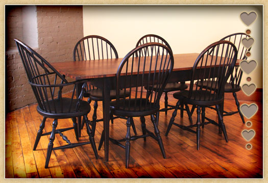 Seating, Tavern Table and Bowback Chairs
