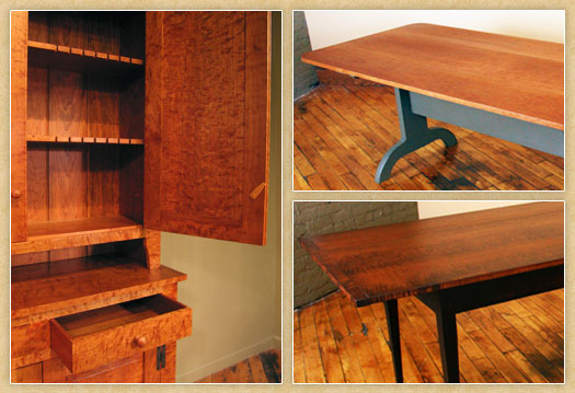 Samples of Shaker Dining Pieces
