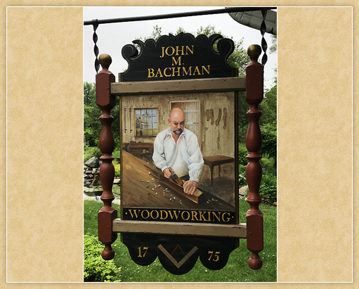 Bachman Woodworking Trade Sign