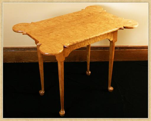 Queen Anne Curly Maple Porringer Table