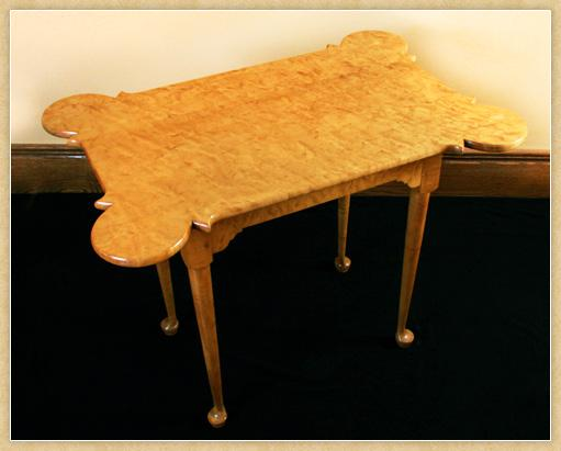 Queen Anne Curly Maple Porringer Table, Top
