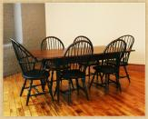 Maple Work & Dining Table, With chairs